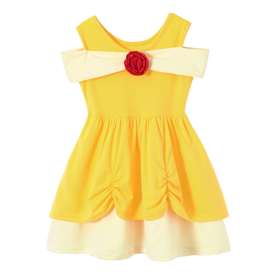 Baby Girls Summer Casual Clothing Minnie Mulan Wonder Woman Snow White Rapunzel Tinker Bell Jasmine Elena Princess Party Dresses