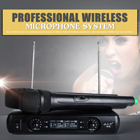 LEORY Wireless Microphone System 2 x Microphones High fidelity Reproduce 100M True Voice Voice Compression Large Receiving Range