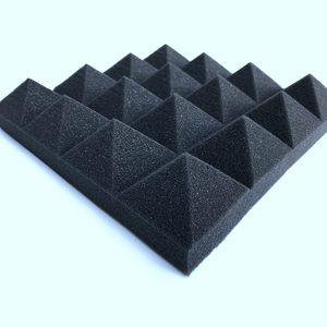 Прямая поставка 12 шт Звукоизоляционная пена Звукопоглощающая Пирамида студийная обработка стеновые панели 25*25*5 см акустическая пена