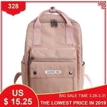 Купить с кэшбэком New Women's Backpack Female School Bag for Girls Fashion Waterproof Nylon Backpacks Ladies Casual Black Pink Travel Bags 2019