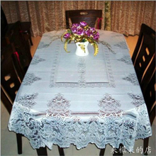 Modern European Style Rectangular Mesh Pattern Oilproof Tablecloth For Christmas Table Cover Wedding Party Decoration Mantel