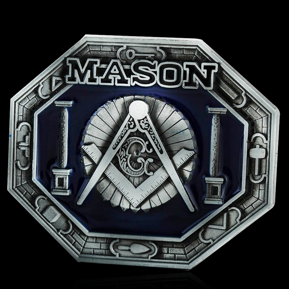 40mm Belt Buckle Men's Metal Clip Buckle DIY Leather Craft Freemason Masonic Jeans Accessories Supply For 3.8cm-3.9cm Wide Belt