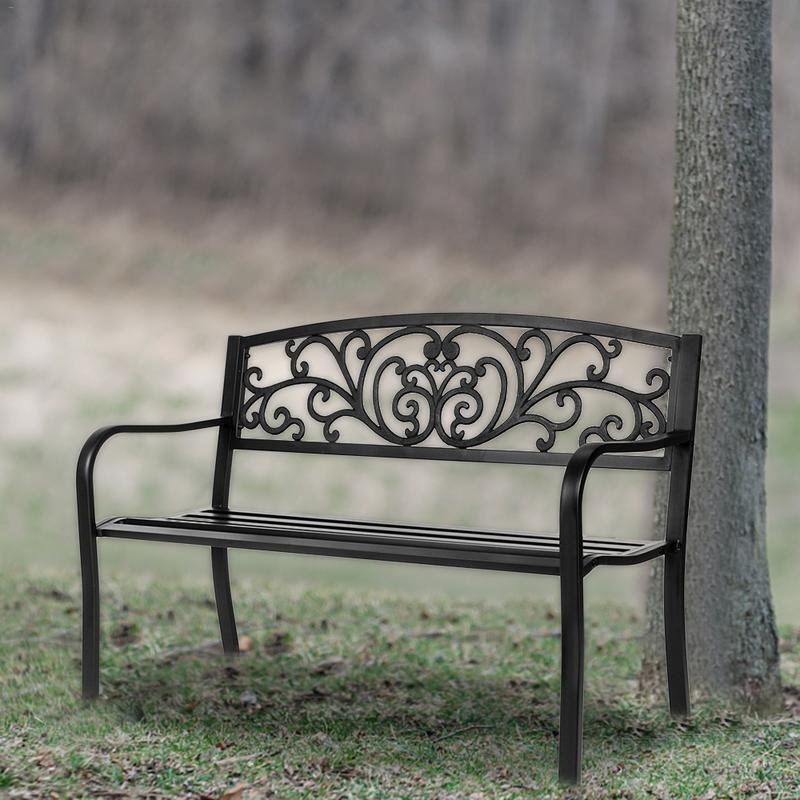 Surprising Us 91 24 14 Off European Wrought Iron Sofa Chair Outdoor Bench Balcony Living Room Double Chair Park Chair Leisure Garden Table And Chair In Garden Pabps2019 Chair Design Images Pabps2019Com