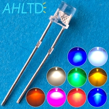 1000pcs LED F3 3mm Ultra Bright Flat top Head white red blue orange UV pink Diode bulb Wide Angle light emitting Diodes lamp Led
