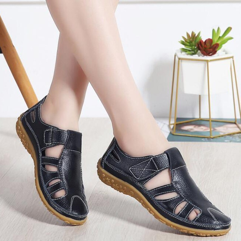 2019 Women Gladiator Sandals Shoes Genuine Leather Hollow Flat Sandals Ladies Casual Soft Bottom Summer Shoes 2019 Women Gladiator Sandals Shoes Genuine Leather Hollow Flat Sandals Ladies Casual Soft Bottom Summer Shoes Women Beach Sandal