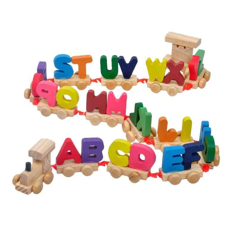 Набор мини-магнитной обучающая красочная деревянная игрушка с буквенным шлейфом для мальчиков и девочек