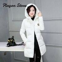 Parka Women Bubble Coat Korean Jackets Winter Womens Zipper Thick Slim Solid Long Parka Puffer Jacket Hooded Long Coat Women