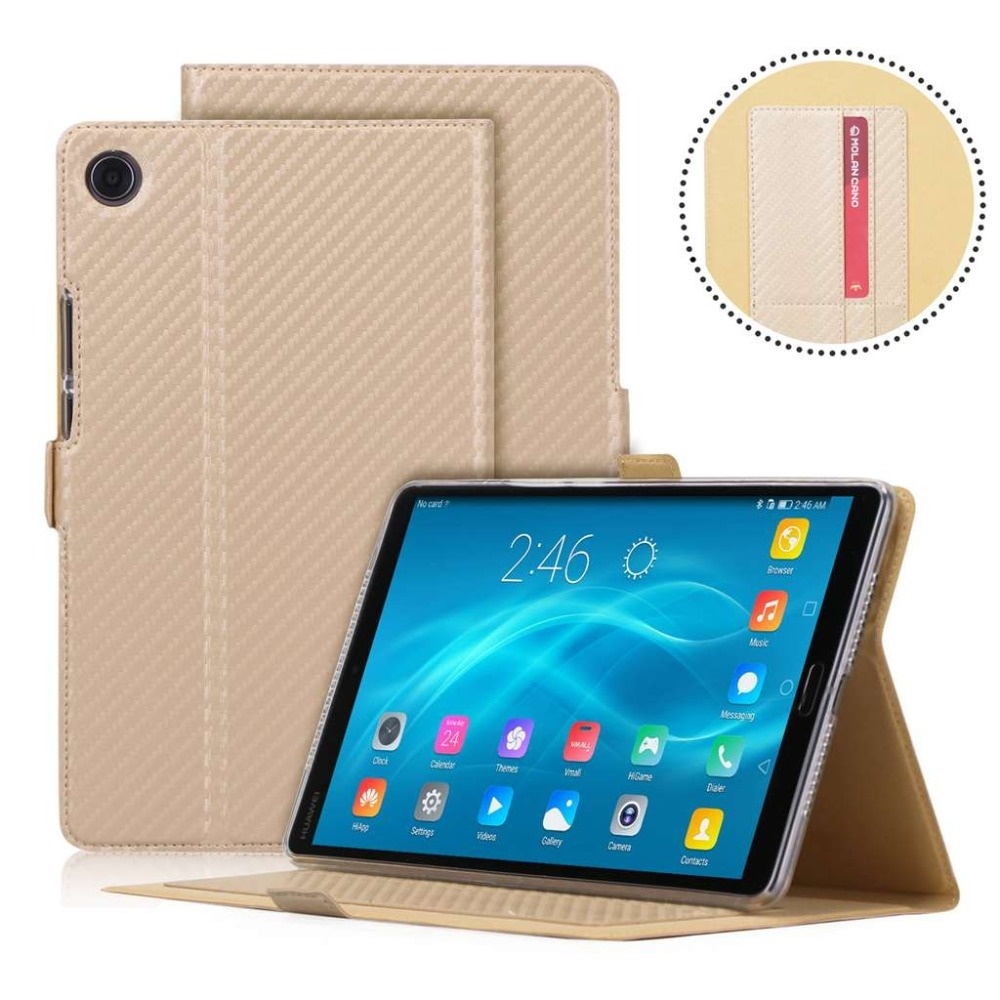 To Be Renowned Both At Home And Abroad For Exquisite Workmanship stylus Pen+film Humorous Cover Flip Stand Smart Case For Huawei Mediapad M5 8.4 Inch Sht-al09/sht-w09 Hand Helder Premium Leather Case Skillful Knitting And Elegant Design