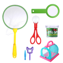 Children Butterfly Insect Habitat Cage Observation Set with Bug Viewer/Scissors Clamp Catcher/Magnifying Glass//Tweezers