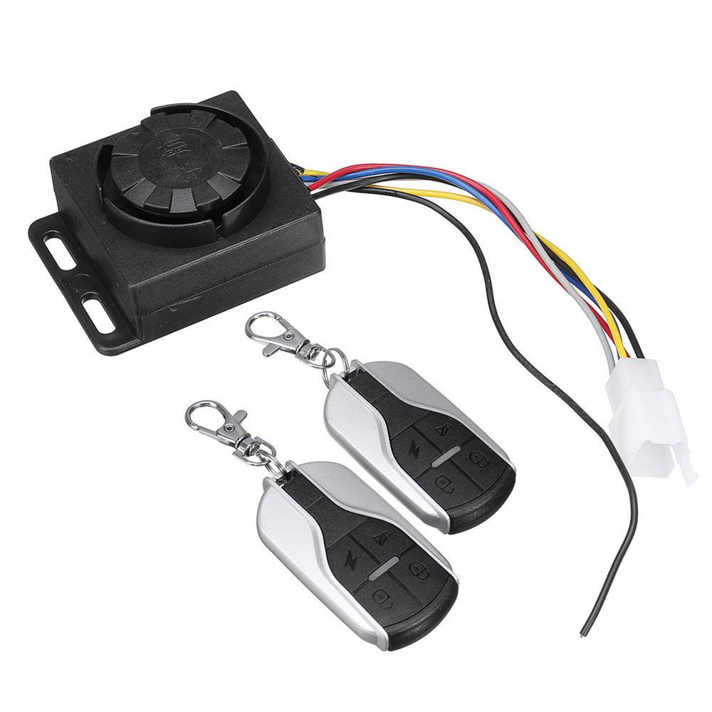 Anti-theft Motorcycle Security Alarm 2 Remote Control Security System 48V-72V 125dB  Anti-theft  Scooter Alarm System