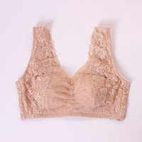 Thin Sexy Lace Bras For Women Beautiful Vest Type Sleep Underwear Berserk Plus Size Bralette Back Closure M L LL 3L 4L 5L 6L