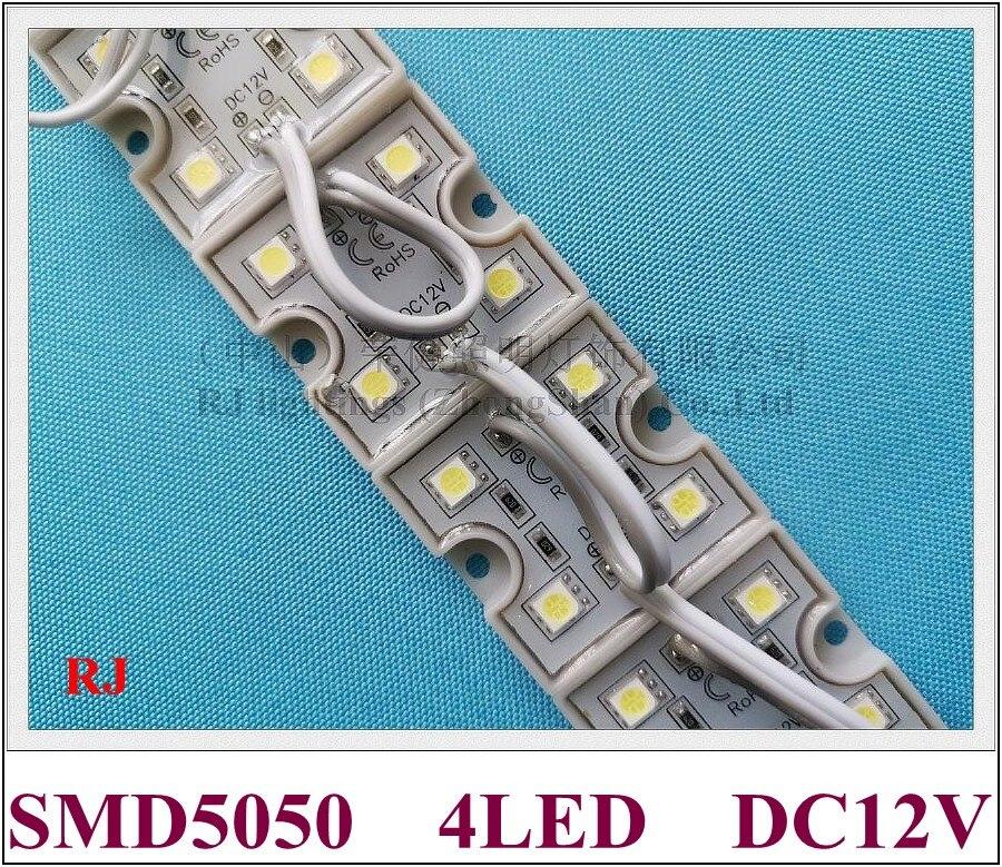 LED Light Module SMD 5050 LED Modules Waterproof LED Lighting Module For Sign DC12V 4 Led 0.96W  PC Crust  Free Shipping