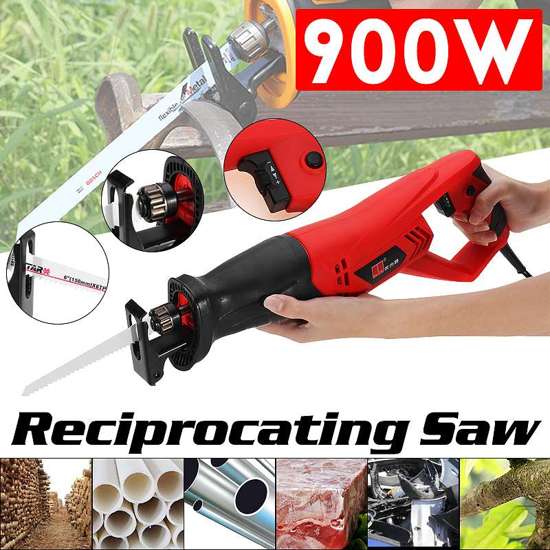High quality 220V 900W Electric Reciprocating Saw Convert Adapter 2 Blades Wood Metal Plastic Pruning Power chainsaw ToolHigh quality 220V 900W Electric Reciprocating Saw Convert Adapter 2 Blades Wood Metal Plastic Pruning Power chainsaw Tool
