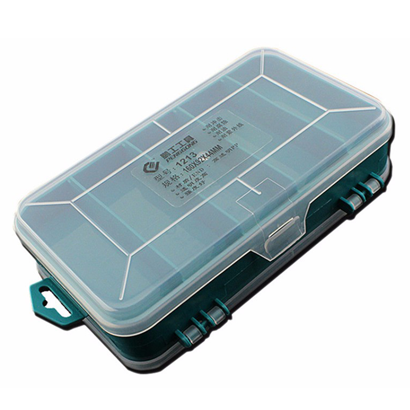 PENGGONG 13 Grids Tool Box Double-Side ToolBox Organizer Storage Box Multifunction Tool Case For Small Components