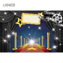 Laeacco Stage Red Carpet Flash Star Backdrop Photography Backgrounds Customized Photographic Backdrops For Photo Studio