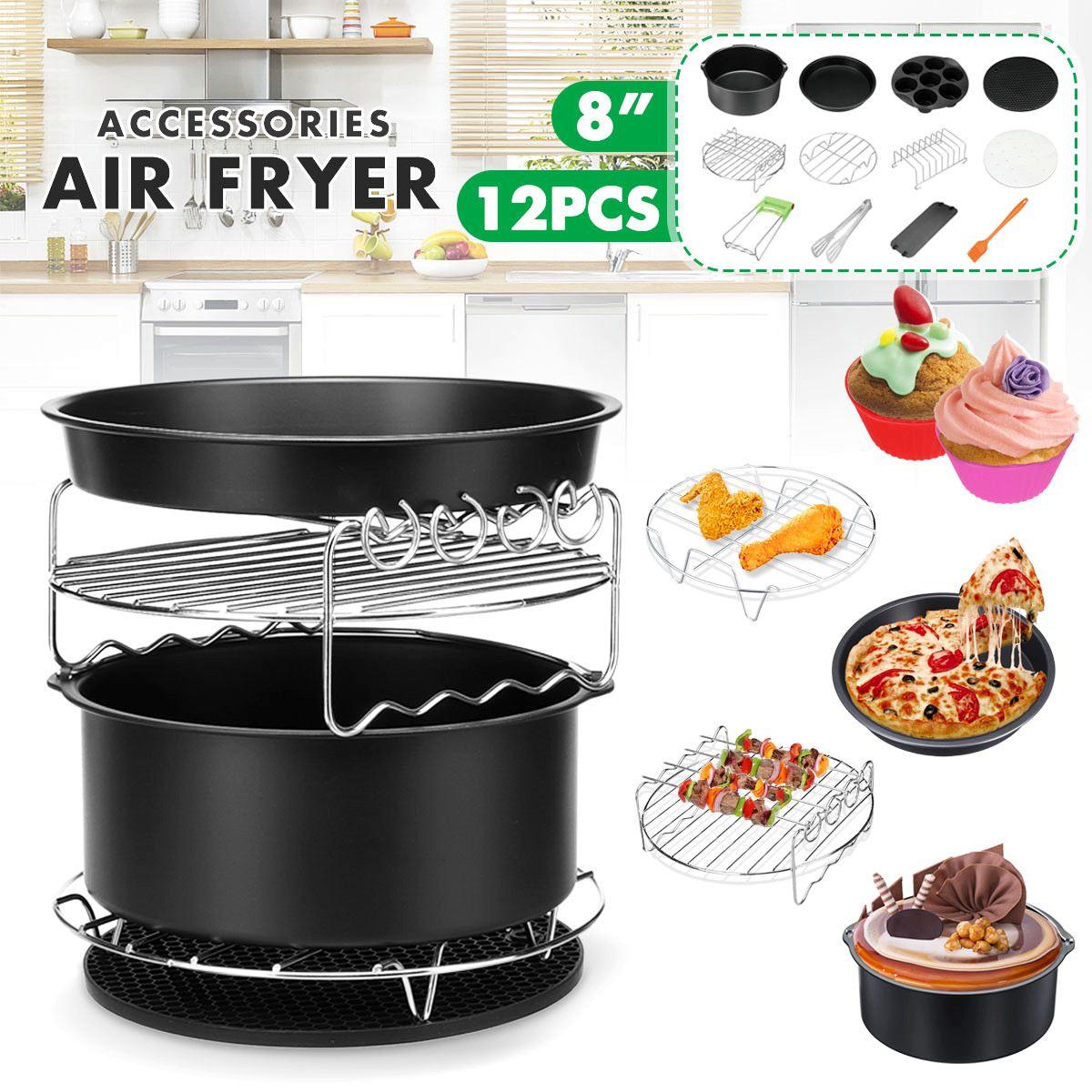12 In 1 8 Inch Air Fryer Accessories Fit all Air fryer  4.2QT-5.3QT-5.8QT-6.8QT Kitchen Cooking Baking Tools Dropshipping 201912 In 1 8 Inch Air Fryer Accessories Fit all Air fryer  4.2QT-5.3QT-5.8QT-6.8QT Kitchen Cooking Baking Tools Dropshipping 2019