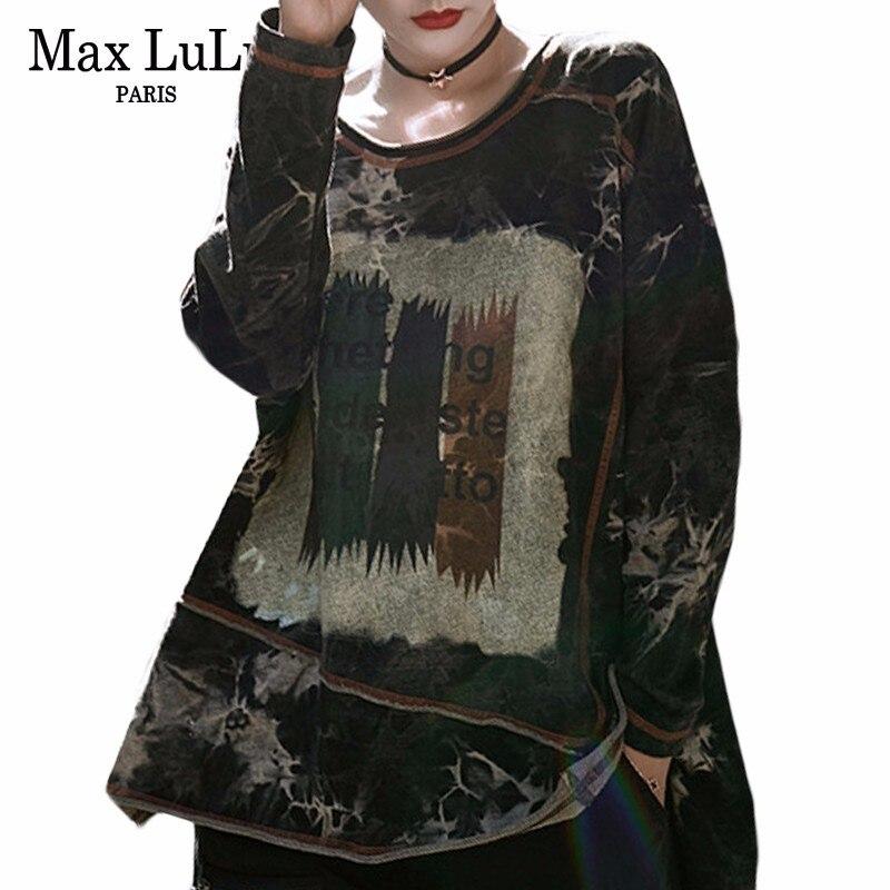 Max LuLu 2019 printemps mode coréenne dames Camouflage hauts femmes Punk Long t-shirts Harajuku Streetwear femme surdimensionné t-shirt
