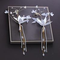 One Pair Hair Clips Petal Flower Headdress Barrettes Hair Accessories Princess Wedding Bridal Side Clip Hairpins Ornament Gifts