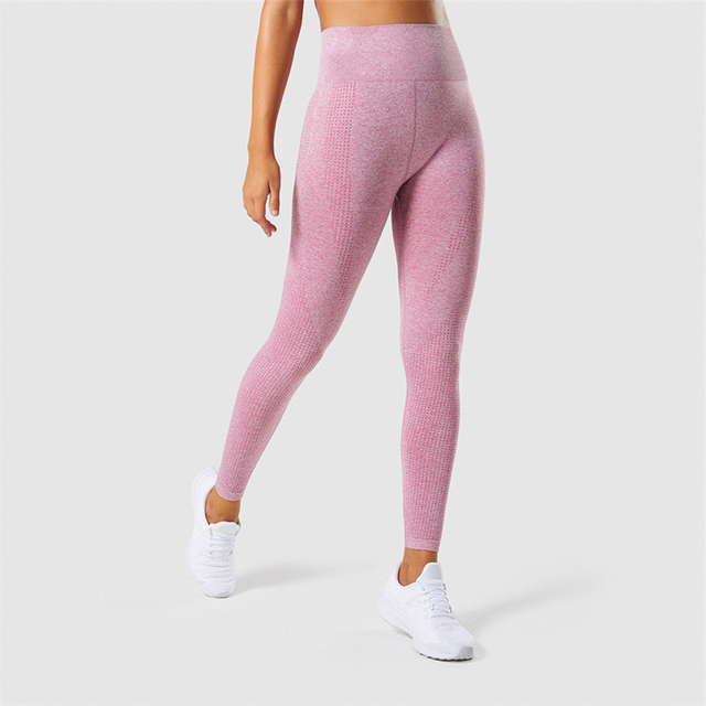 01e2183806775 Fitness Bamboo Leggings Seamless Women Jeggings Work Out Clothing Female  Sweat Pants Lifting Adventure Time Workout Grey Pink