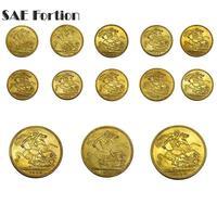 14pcs/set Horse Sword Queen Victoria Collection Memorial Souvenirs Collectible Copy Coin Home Decor Commemorative Coin JNBF8IC