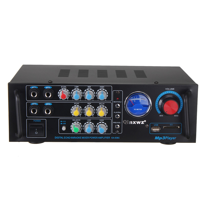 MINI 2 Channel 600W+600W Digital Stereo Audio Amplifier Home/Car HiFi High Power Amplifiers Super Bass with VU Meter DC12V/220VMINI 2 Channel 600W+600W Digital Stereo Audio Amplifier Home/Car HiFi High Power Amplifiers Super Bass with VU Meter DC12V/220V