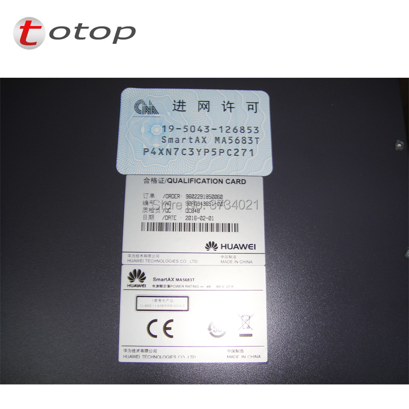 Image 5 - Huawei MA5683T 19 inches GPON OLT equipment 10GE Uplink with 2*SCUN+2*X2CS+2*PRTE GPON board MA5683T Optical Line Terminal-in Fiber Optic Equipments from Cellphones & Telecommunications