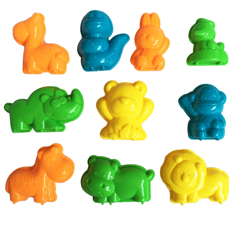 10 Pcs Animal Sand Mud Tool Diy Beach Toy Mould Mould Beach Toys Beach Animal Mould Building Model Kids Holiday Out Beach Toys