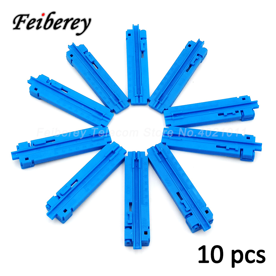 10pcs 2 In 1 Economical Fixed Length Guiding Rail Fiber Optic Cable Stripper Optical Fiber Cutting Guide Rail FTTH Tool