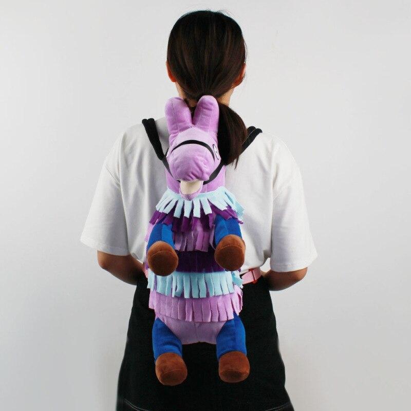 Battle Royale Stash Llamas Alpaca Cosplay Backpack Rainbow Horse School Bag Plush Toys Children Halloween Gifts 1