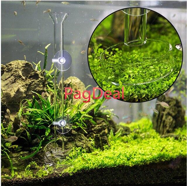 Acuario cristal Camarón tubo de alimentación pecera tanque acuático plato Caracol pescado alimentador conjunto envío gratis