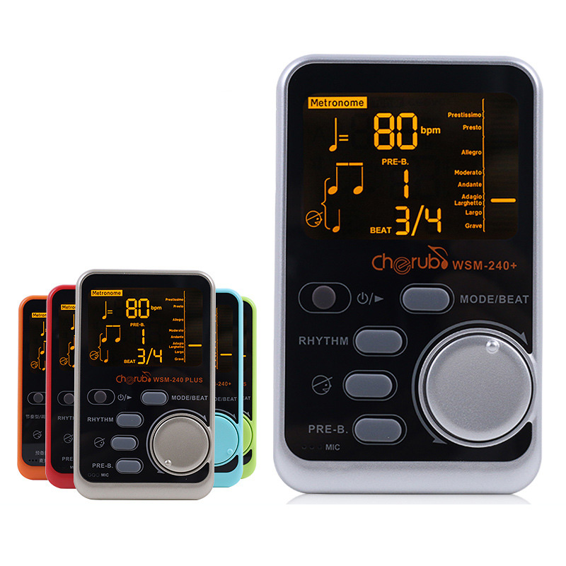 Portable Guitar Piano Metronome Digital LCD Clip-on Digital Tuner Metronom For Guitar Violin Bass Musical Instruments WSM-240