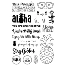 pineapple and english Transparent Clear Silicone Stamp/Seal for DIY scrapbooking/photo album Decorative clear stamp