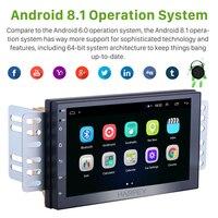 Harfey 2Din Android 8.1 Universal Car Multimedia Player Radio Head Unit for NISSAN TOYOTA KIA VW Hyundai Suzuki Honda Wifi Music