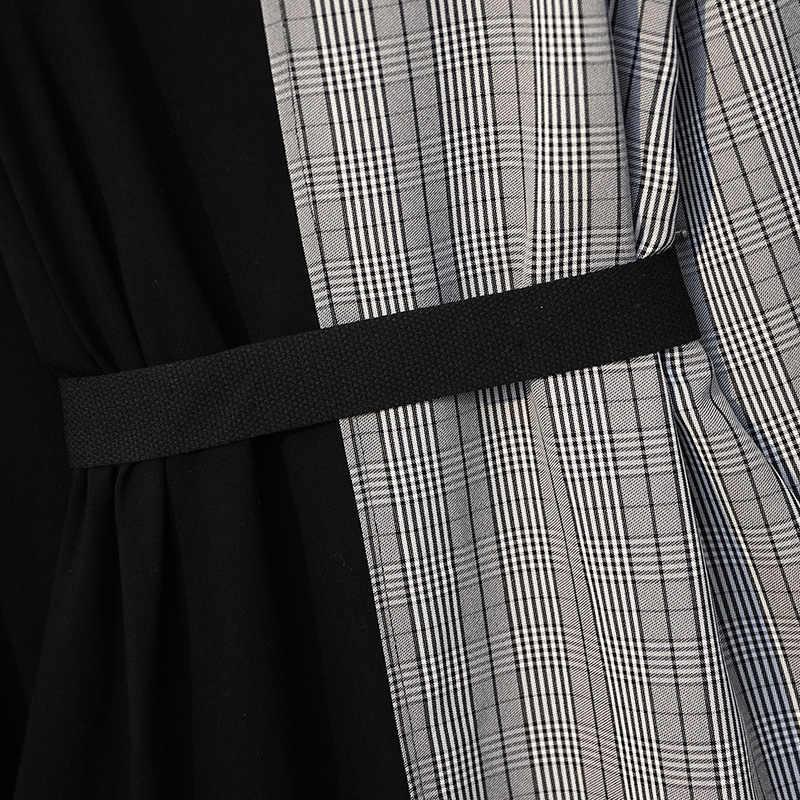 XL-5XL, плюс размер, женское платье с длинным рукавом, весна 2019, уличная одежда, с принтом, трикотажная, хлопок, длинная футболка, пэчворк, рубашка, платья