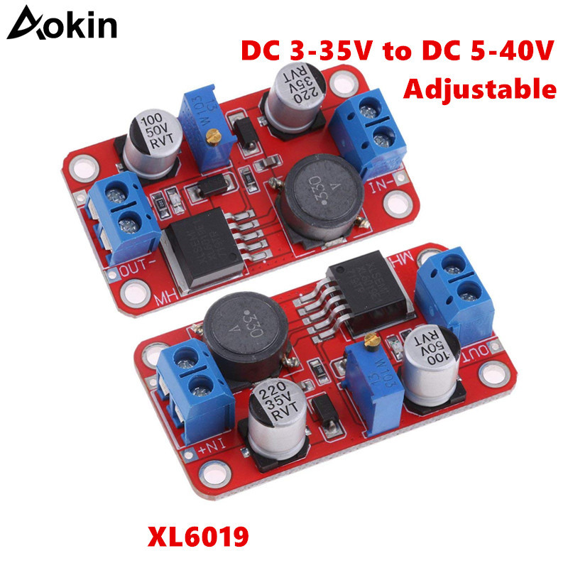 XL6019 step-up step-down <font><b>Dc</b></font> to <font><b>Dc</b></font> 3-35V to <font><b>5</b></font>-40V Adjustable Converter Power Supply Module <font><b>5A</b></font> Max Step Up Power Supply Converter image
