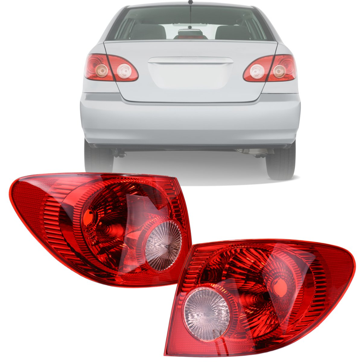 1 Pair Car Tail Rear Brake Light Lamp With No Bulb For Toyota Corolla 2005 2006 2007 2008 8156002290 Housing Styling