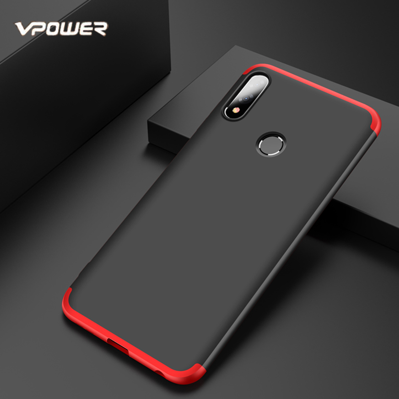 For <font><b>Asus</b></font> <font><b>Zenfone</b></font> <font><b>Max</b></font> <font><b>Pro</b></font> M2 Case Vpower 3 in <font><b>1</b></font> <font><b>360</b></font> Degree Anti-knock Phone Case Coque for <font><b>Zenfone</b></font> <font><b>Max</b></font> <font><b>Pro</b></font> M2 ZB631KL Back Covers image