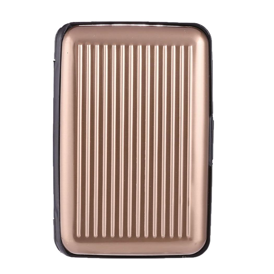 Fashion Id Creditcard Portemonnee Waterdicht Anti-magnetische Aluminium Metalen Kaart Enkele Openen En Sluiten Pakket