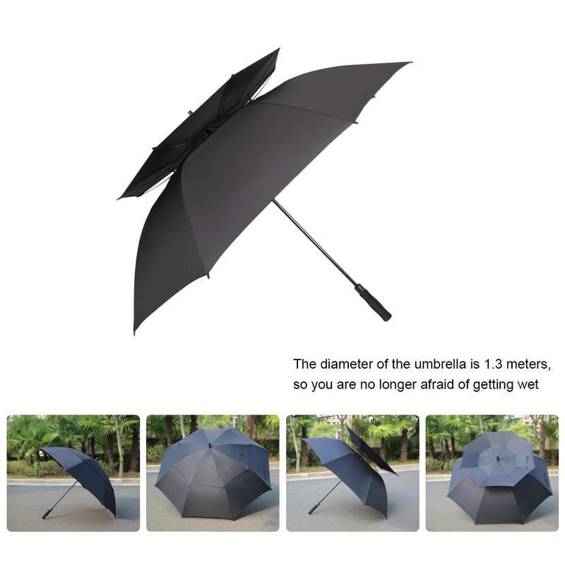 Folding Umbrella Rainproof /& Windproof Umbrella Sea Wave Custom Umbrella Automatic