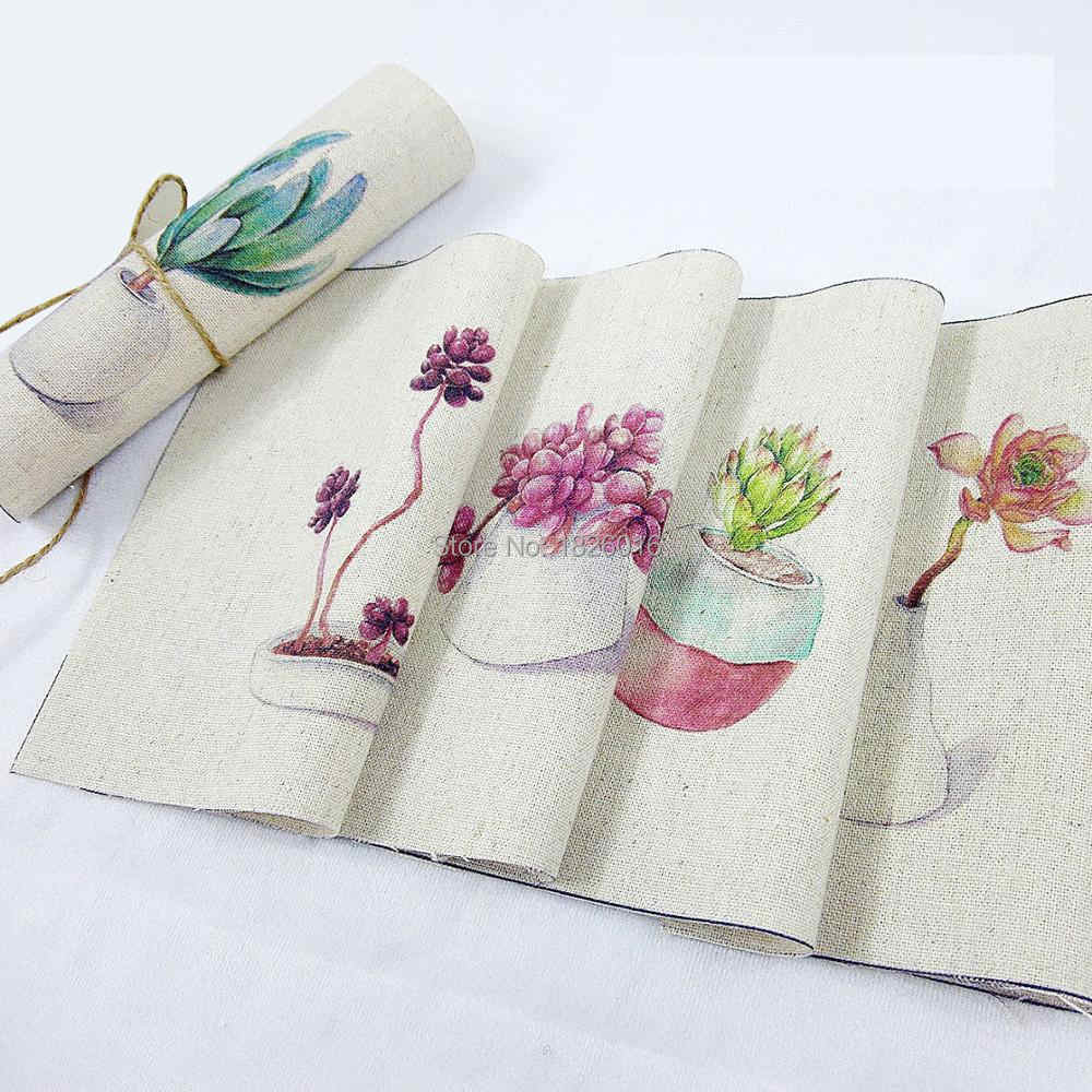 ZENGIA 15x15 cm hoja suculenta mano teñida pintura Digital tela de algodón y lino tela de lona para bolsas /Decoración