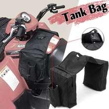 b60dac1062769 Siyah 600D Oxford Su Geçirmez Yastıklı Kargo Depolama Gaz Tankı Bagaj Eyer  Çantası Için ATV/UTV/Motosiklet Yan Çanta aksesuarlar.
