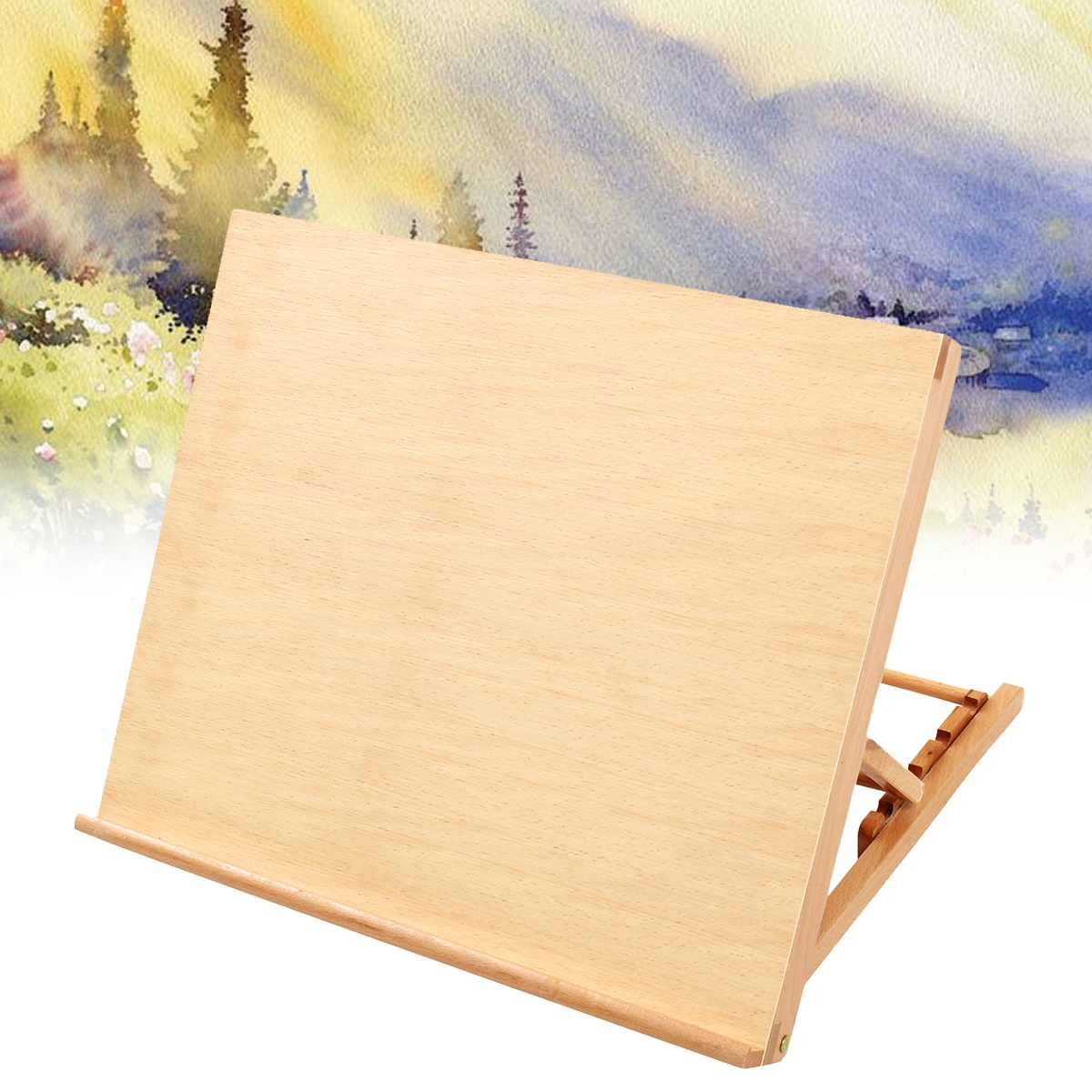 Durable Wooden Easels Display Stand Artist School Painting Rack Wedding Table Card Stand Holder For Party Decoration 49x42x6cm