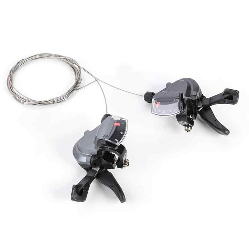 1 пара алюминиевого сплава M4000 27 Скорость горный велосипед сзади внешний кабель переключения передач подходит для горных велосипедов/велосипеды/дорога с черным
