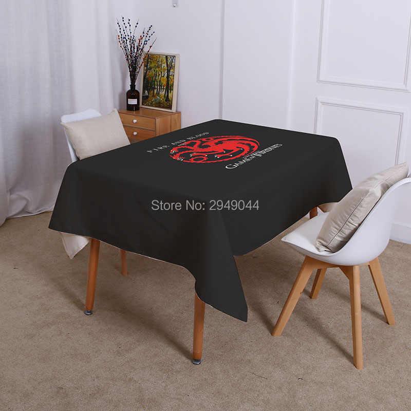 Игра престолов скатерти Мощность 9 большой семья логотип украшения дома скатерть на стол для гостиная настраиваемый