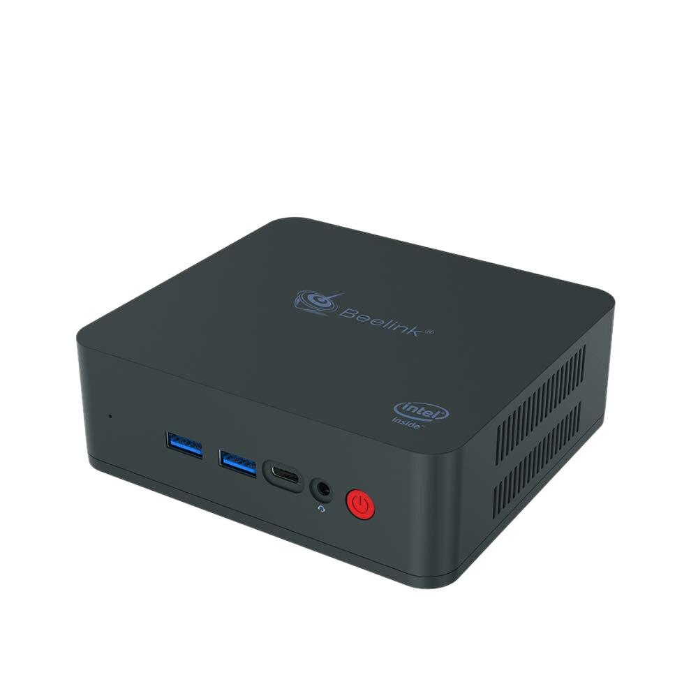 Beelink U55 Mini Pc Intel Core I3-5005U Processor(Intel Hd Image 5500), Ddr3L 8Gb Ram/256Gb Ssd/Diy Hdd 1000Mbps Lan 2.4/5.8G