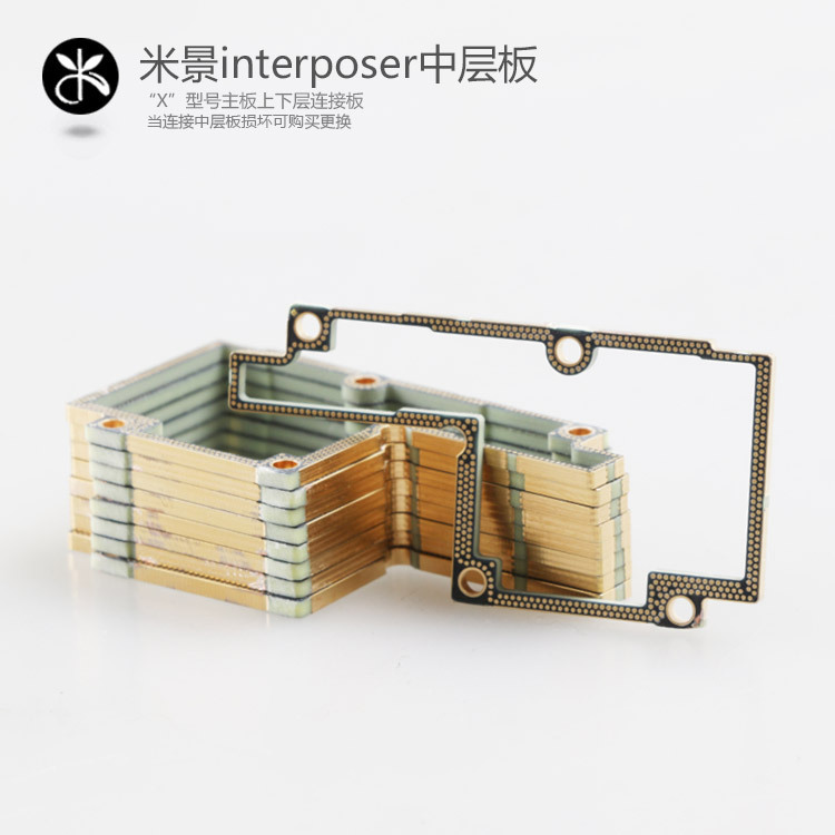 MJ Interposer For IPhone X XS XS-MAX Double-stacked Motherboard Frame BGA Reballing Middle Layer Separate Board
