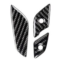 Car Styling Carbon Fiber Steering Wheel Button Cover Trim Stickersor for Cadillac XT5 2016 2017 90*28mm Car Exterior Accessories