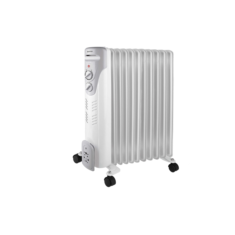 Heater oil Vitek VT-1710 (W) (Power 2500 W, 11 sections, heating area up to 25 sq. M, power adjustment) heater oil resanta омпт 7н power 1500 w 7 sections adjustment heating