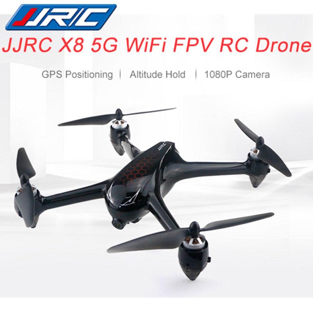 JJRC X8 5G WiFi FPV RC Drone Professionnel GPS Positionnement Maintien D'altitude 1080 P Caméra RC Hélicoptères Brushless Moteur suivez-moi