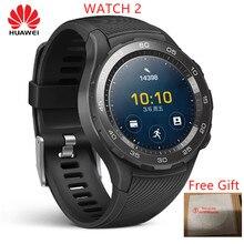 Ban đầu Toàn Cầu Rom Đồng Hồ Huawei Watch 2 đồng hồ Thông Minh Hỗ Trợ 4G Điện Thoại Gọi La Bàn Cho Android IOS với IP68 chống thấm nước NFC GPS